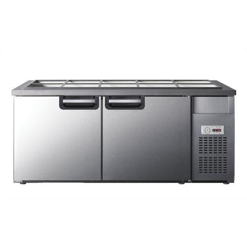 유니크 반찬냉장고 1800x700 아날로그 UDS-18RBAR 밧드별도